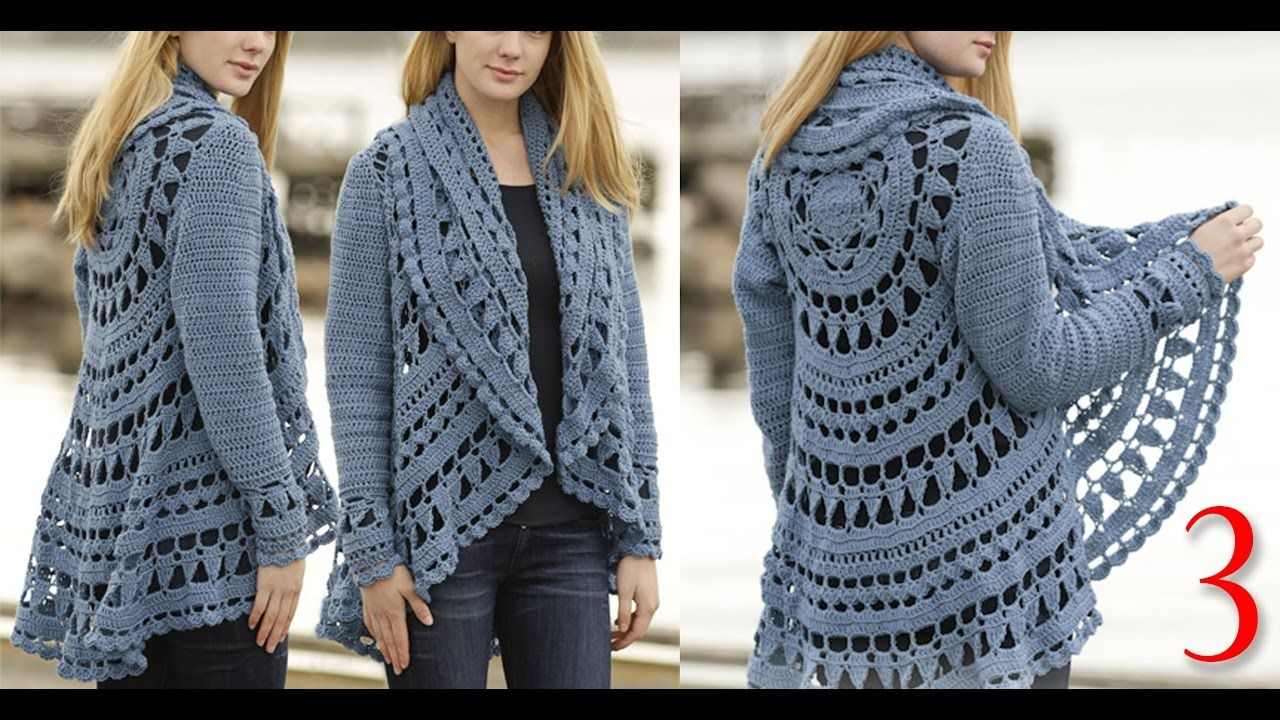 ac0226cb2ac858 كروشيه كارديجان صيفي و شتوي ج3 Crochet cardigan for winter and summer pa.
