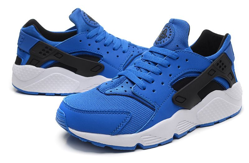buy online 0da25 b218b Nike Air Huarache Triple Mens Shoes - Royal Blue White Black