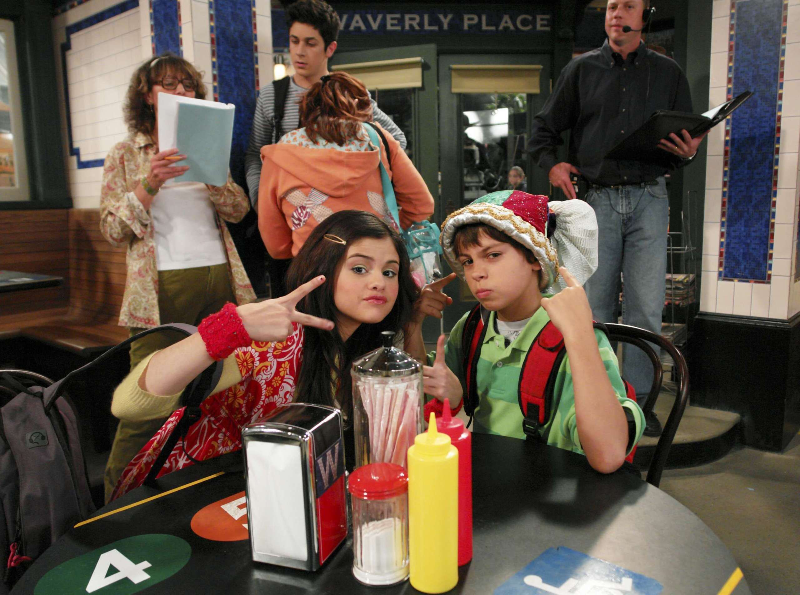 on the set of wizards of waverly place on a wizards of waverly