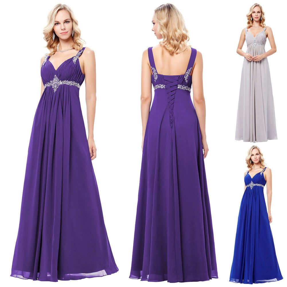 Maternity Pongee Evening Formal Party Ball Gown Prom Bridesmaid Maxi ...