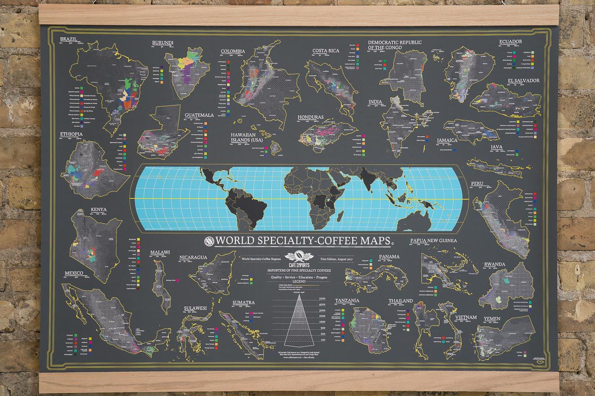 The World Specialty Coffee Map By Cafe Imports