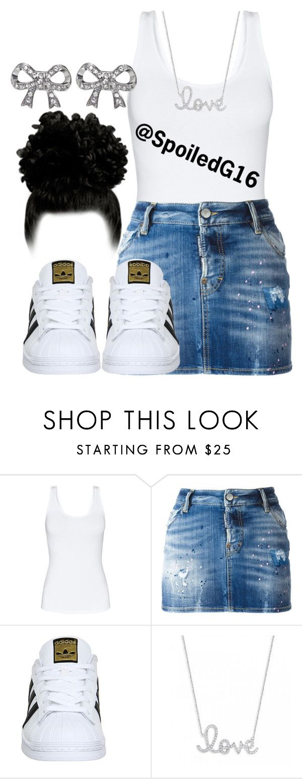 """""""Simple."""" by spoiledg16 ❤ liked on Polyvore featuring Talula, Dsquared2, adidas, Sydney Evan and Wet Seal"""