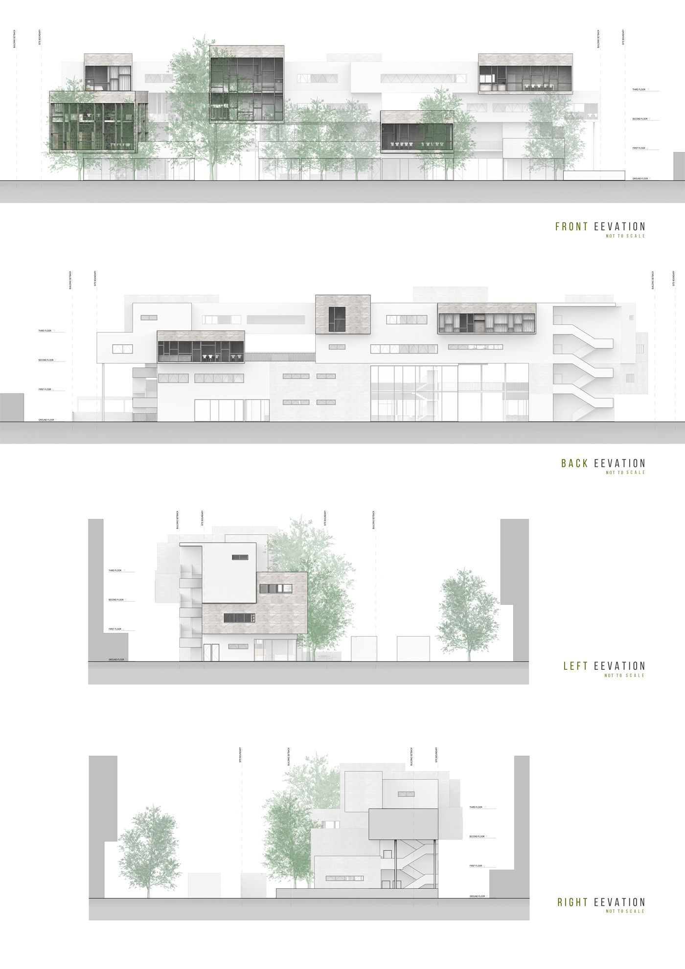 The Urban Elderly Community Center Is The Final Degree Project For My  Bachelor Of Architecture.