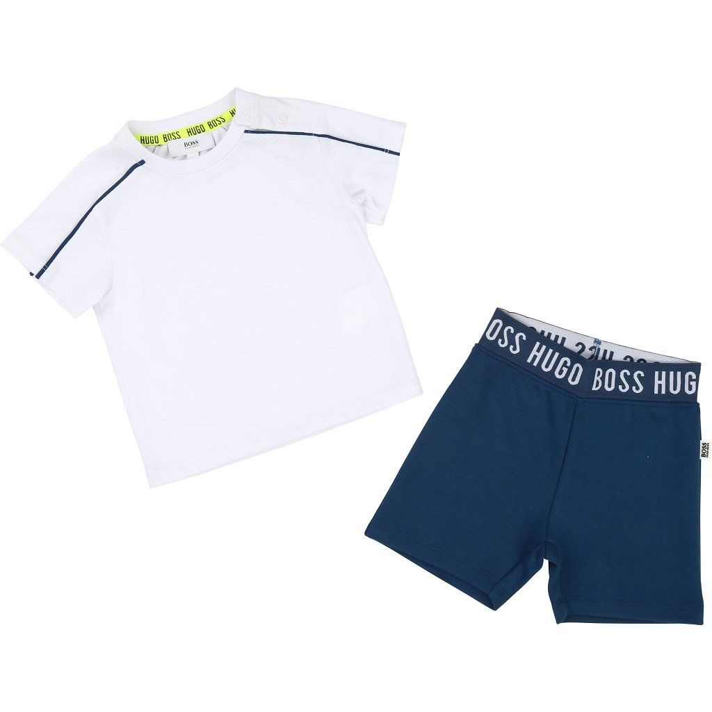baby boy hugo boss shorts and shirt