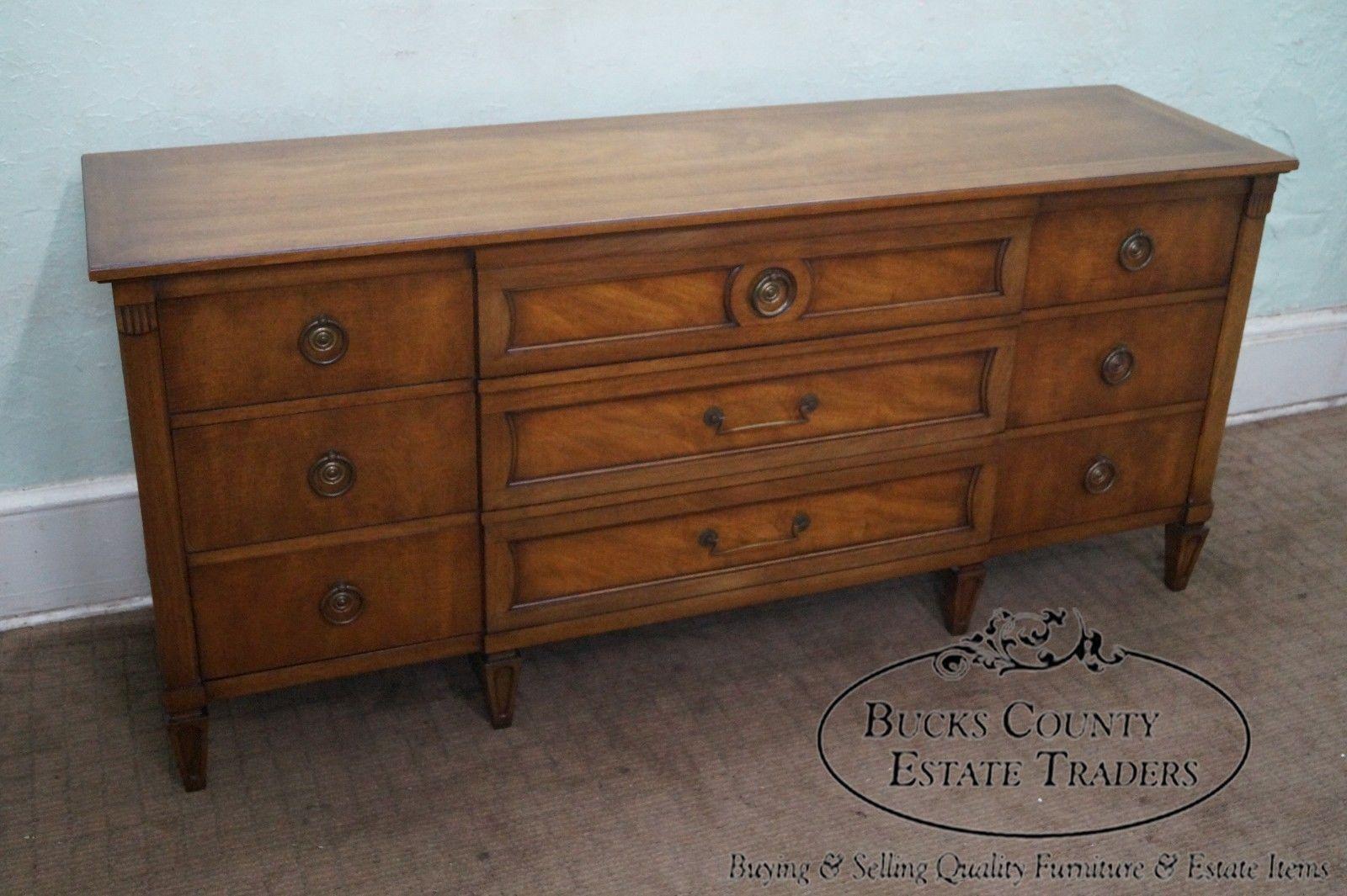Best Henredon Vintage Light Mahogany Regency Style Long Dresser 400 x 300