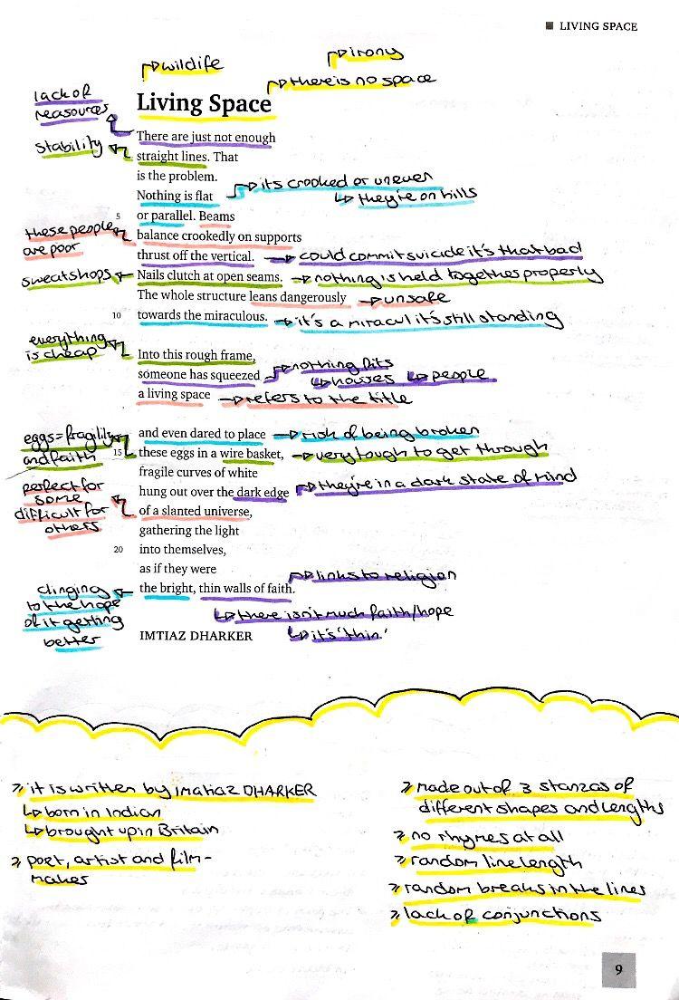 Living Space Poetry Analysis Poetry Analysis Worksheet Gcse Poems [ 1104 x 750 Pixel ]