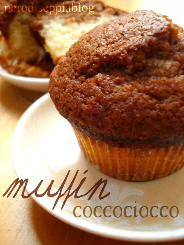 Coconut and cocoa muffin.