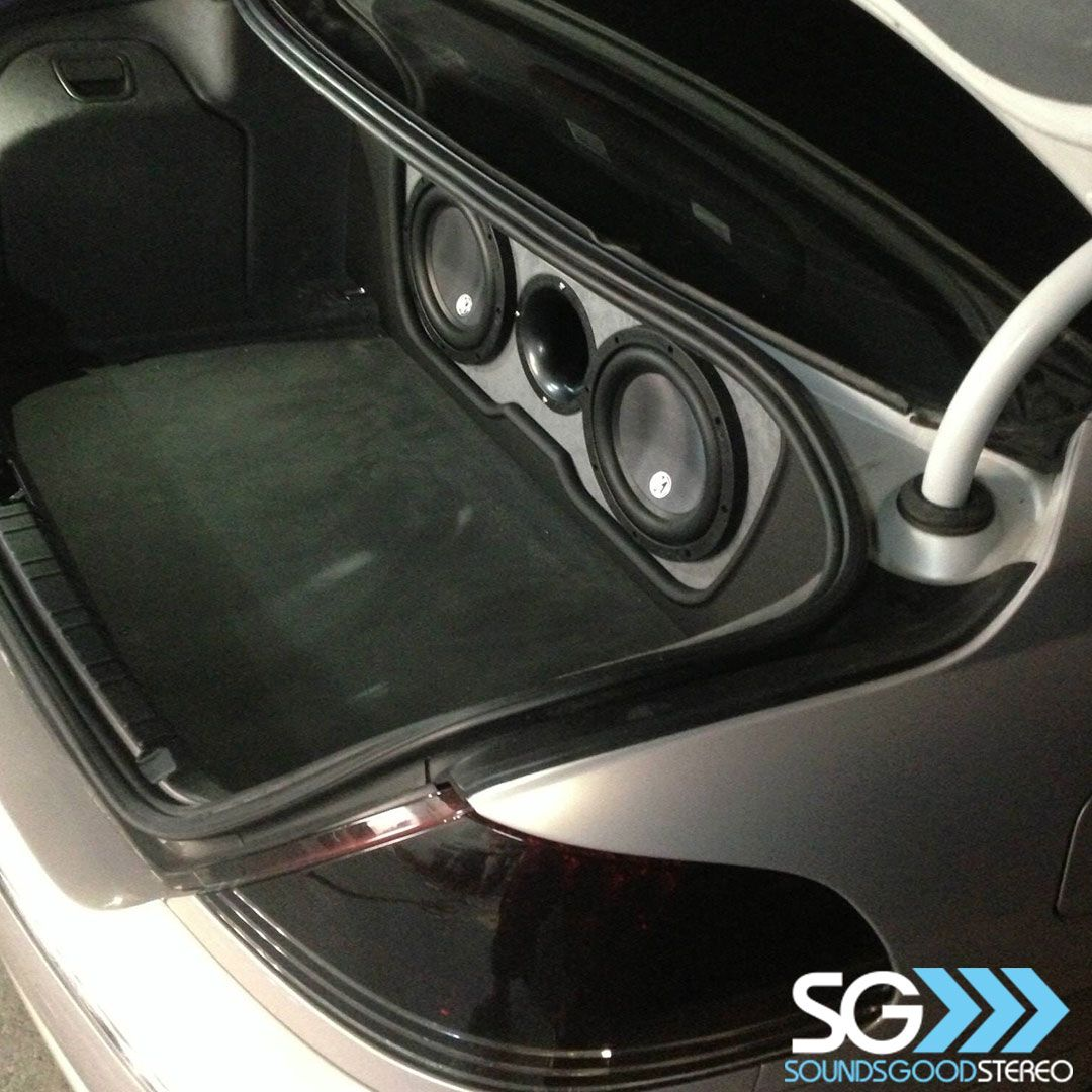 Completed Bmw 7 Series Memphiscaraudiousa Subwoofer Package With Simple Trim Panel By The Team At Soundsgo Car Audio Car Audio Installation Memphis Car Audio