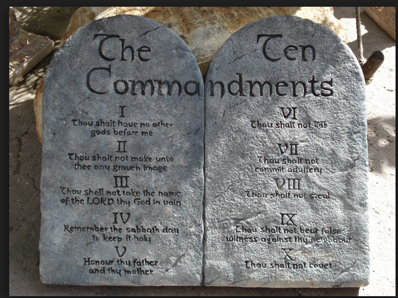 Would love stone tablets in this shape but written in hebrew...maybe some cracks in it and a mountain behind i…   Ten commandments,  10 commandments, Sunday sermons
