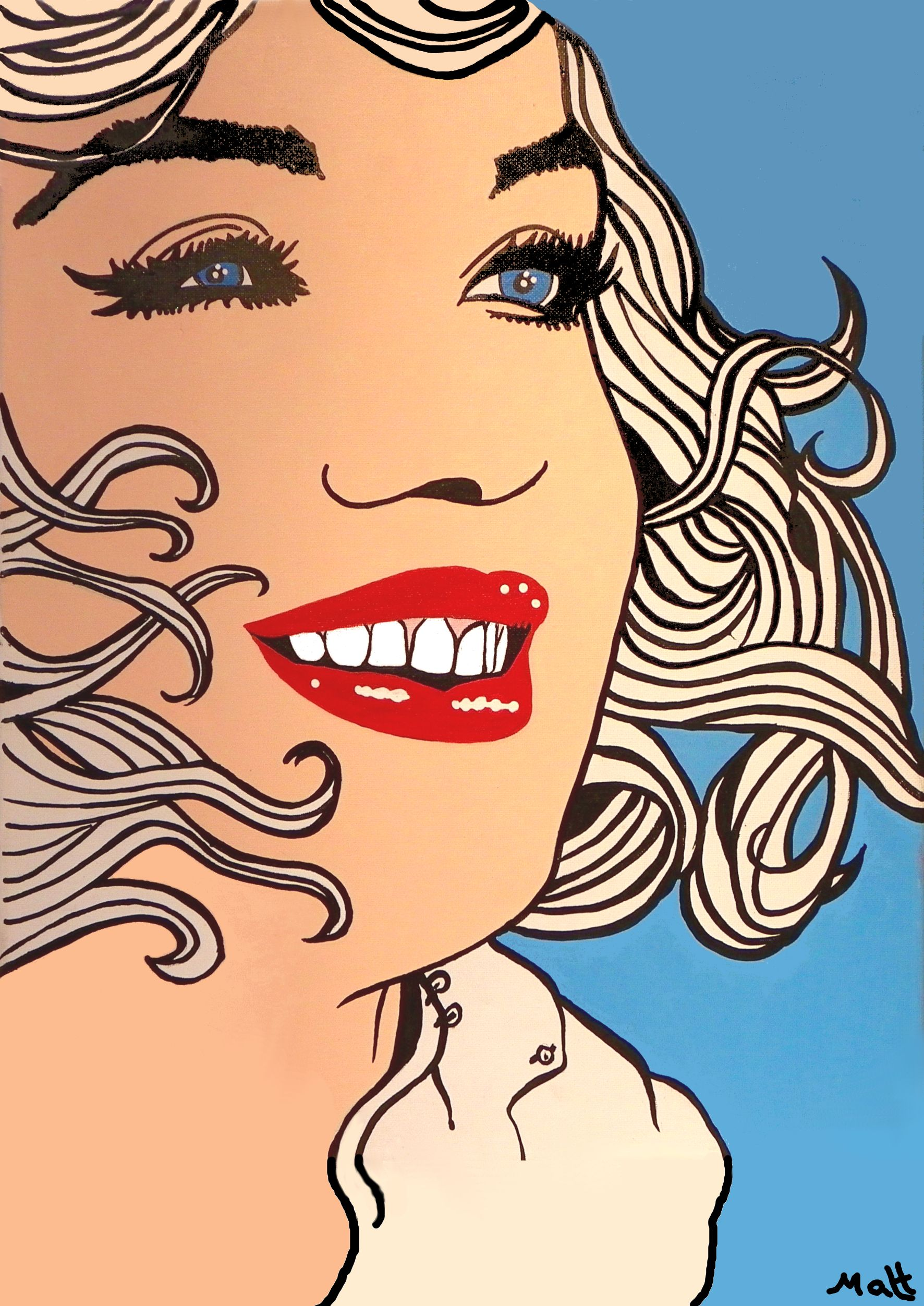 Marilyn monroe pop art greetings card from the original matt smith marilyn monroe pop art greetings card from the original matt smith painting kristyandbryce Image collections