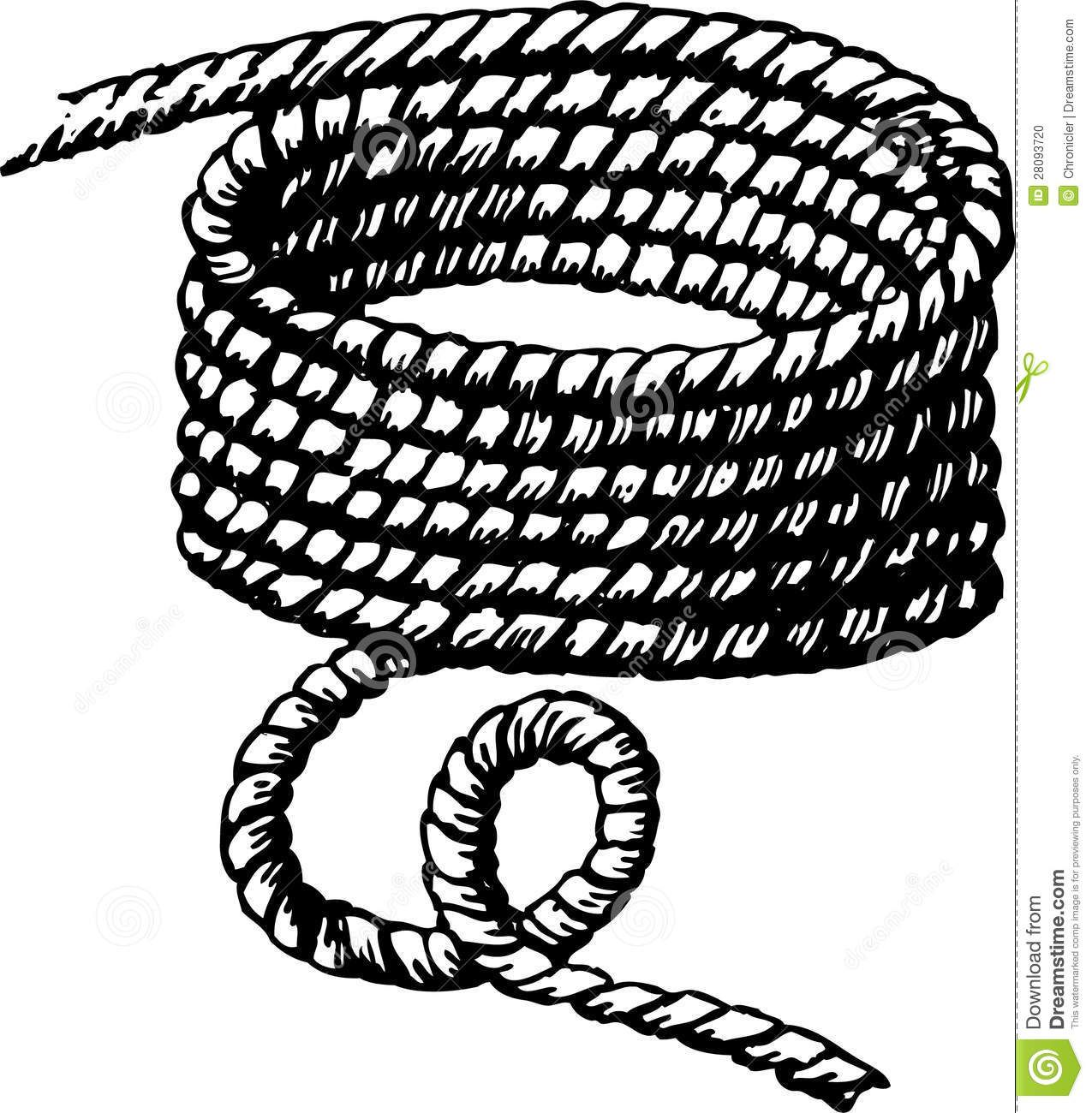 Braided rope drawing