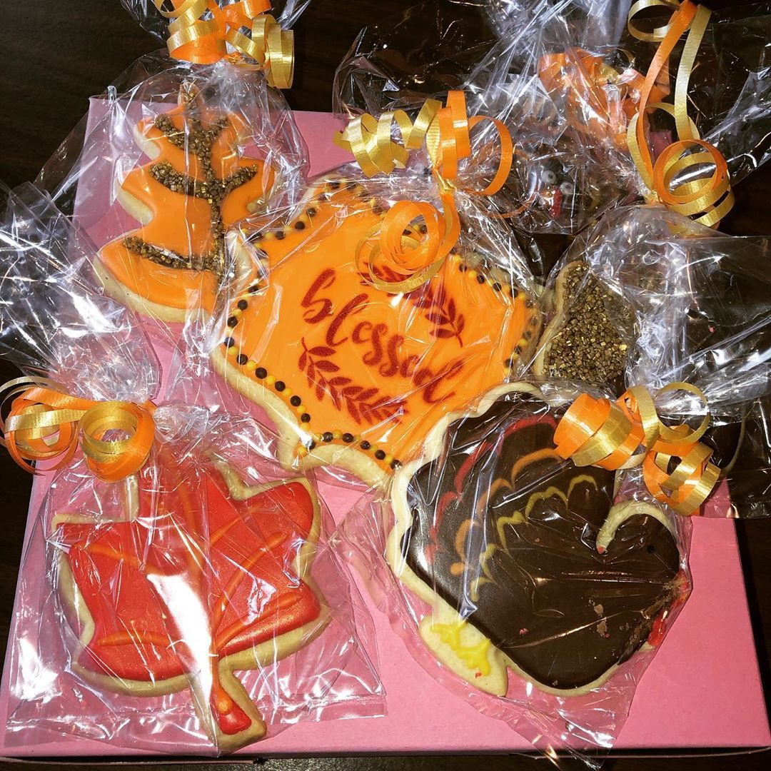 check out these awesome Thanksgiving cookies locally made right here in town