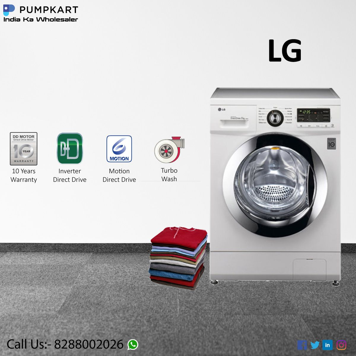 Give Comfort To Your Clothes Machine Pumpkart Lg 2020 In 2020 Machine Home Appliances Pumpk