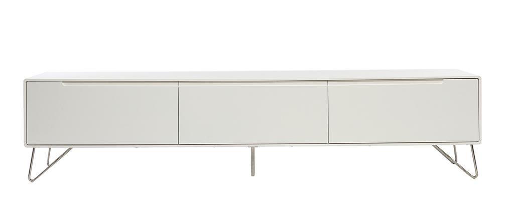 Mueble TV diseño 200cm blanco mate ILLIA | reforma | Pinterest ...