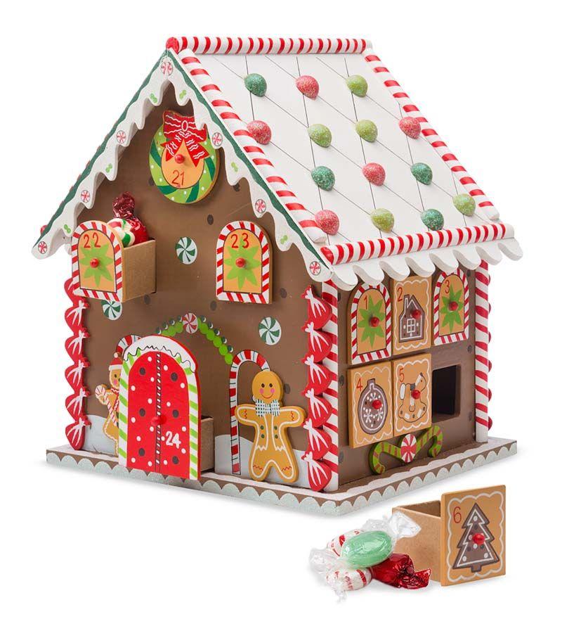 Gingerbread House Advent Calendar Is A Festive Decoration And A Wonderful Family Tradition Avec Images Calendrier De L Avent