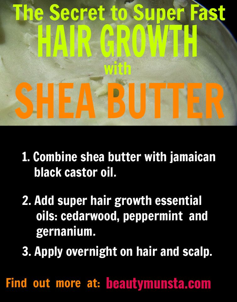 3 Shea Butter Hair Growth Recipes That Work! - beautymunsta - free natural beauty hacks and more!