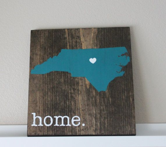Personalized Wood Wall Art north carolina wood sign, state sign, custom wood sign, pallet