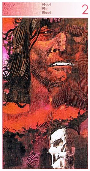 Two of Swords (Blood) - Tarot of the Origins by Sergio Toppi.