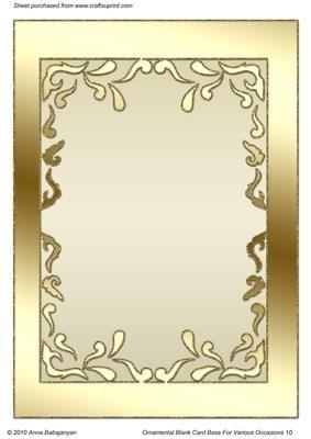Ornamental Blank Card Base For Various Occasions 10 Molduras Bordas