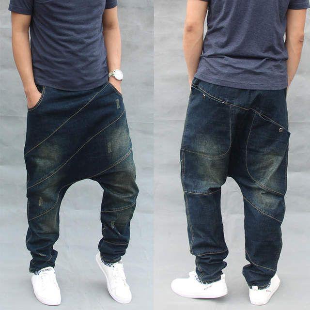 Tienda Online Pantalones Vaqueros Holgados De Moda De Mezclilla Casual Para Hombre Panta Pantalones De Hombre Moda Pantalones De Hombre Ropa Informal Masculina