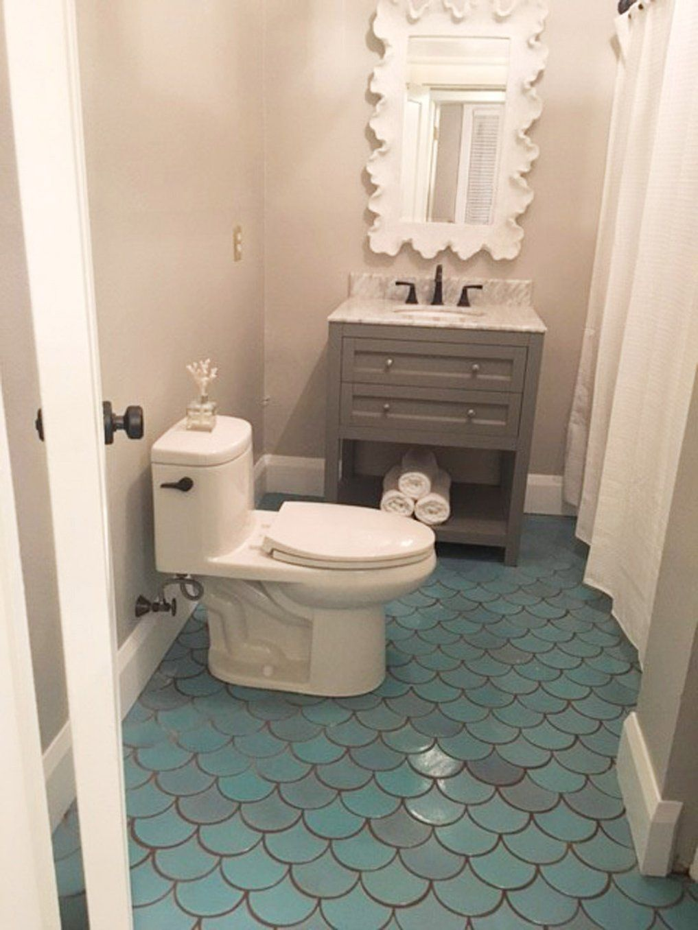 7 diy practical and decorative bathroom ideas.htm large moroccan fish scales 12r blue bell 12r blue bell  with  moroccan fish scales 12r blue bell