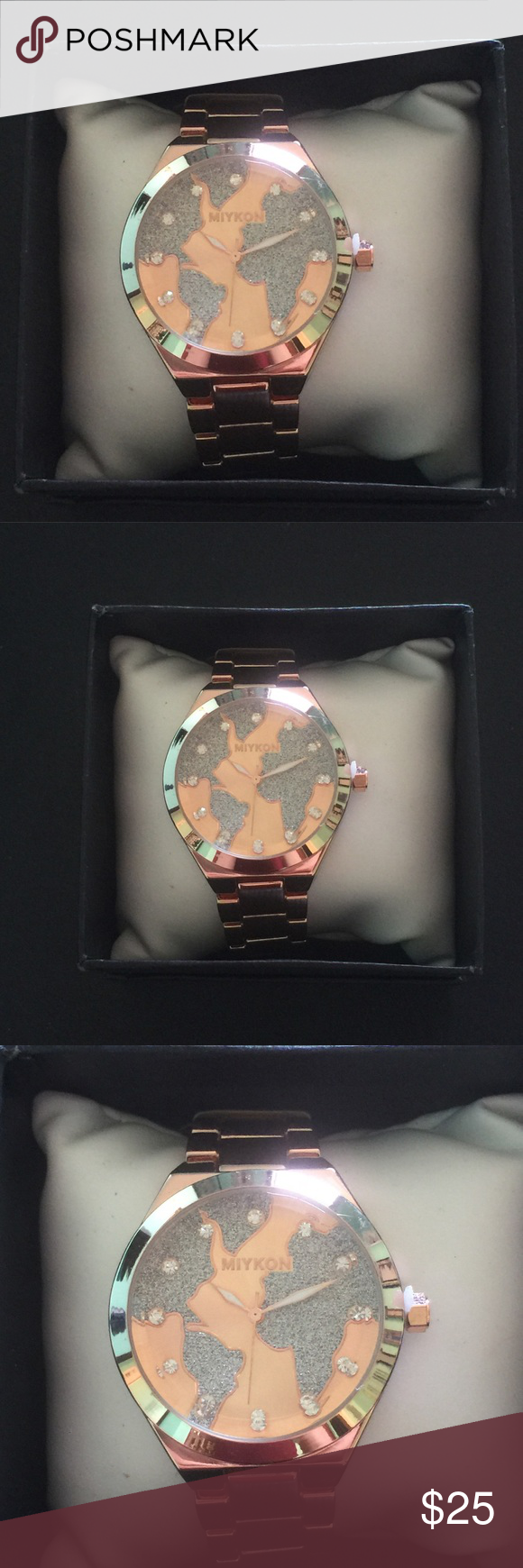 Mykon womens rose gold world map watch boutique pinterest mykon womens rose gold world map watch mykon is a great brand it is from gumiabroncs Images