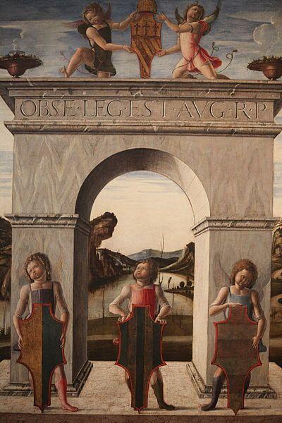 Alvise Vivarini - Arco Trionfale del doge Niccolò Tron - 1471-73 - Venezia, Gallerie dell'Accademia