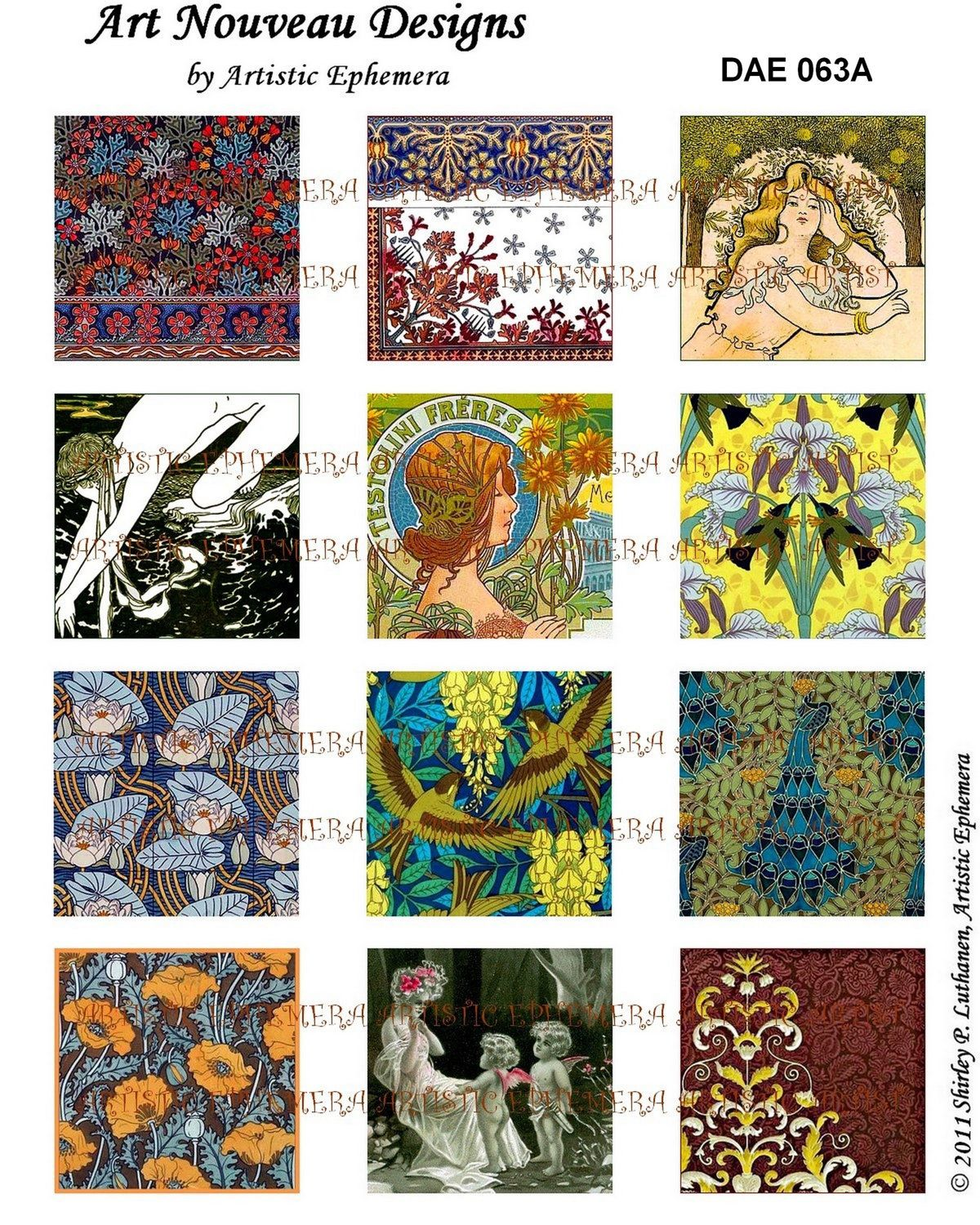 DAE063A Beautiful Art Nouveau Designs I