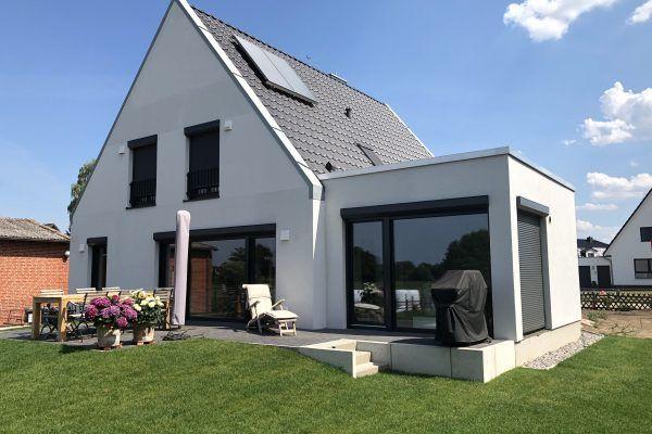 Anbau an eine Doppelhaushälfte in HamburgVolksdorf