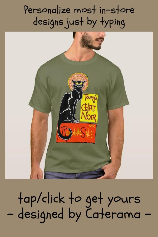 Vintage Black Cat Tournee Du Chat Noir Poster Art T Shirt Zazzle Com Black Cat Tournee Du Chat Noir T Shirt