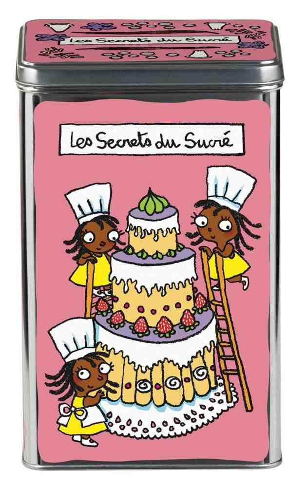 """boîte de cuisine derrière la porte """"secrets du sucré"""", la boîte à"""