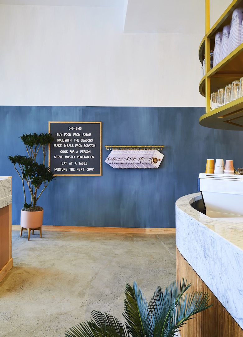 ash nyc designs rye brooks new dig inn eatery - Marble Cafe Decoration