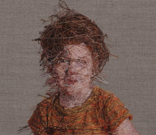 Artist: Cayce Zavaglia Cross stitch for the 21st century? St. Louis based artist Cayce Zavaglia is revolutionising the needle and thread as a method of artistic impression. Stich by stitch, Zavaglia uses her background as a painter to create incredibly lifelike portraits.