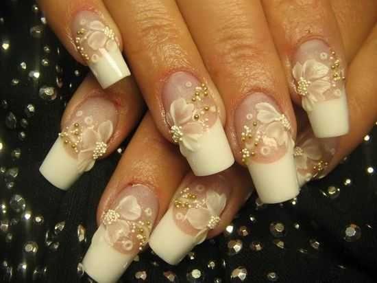 Wedding nails bridal nail art ideas bridal nail designs for wedding nails bridal nail art ideas bridal nail designs for women prinsesfo Image collections