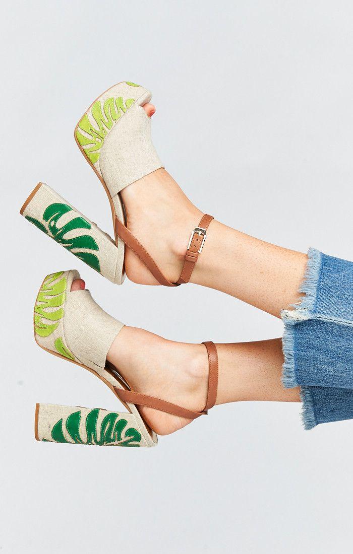 8a79976e9070 Dolce Vita ~ Lando Platform Heels ~ Palm Print