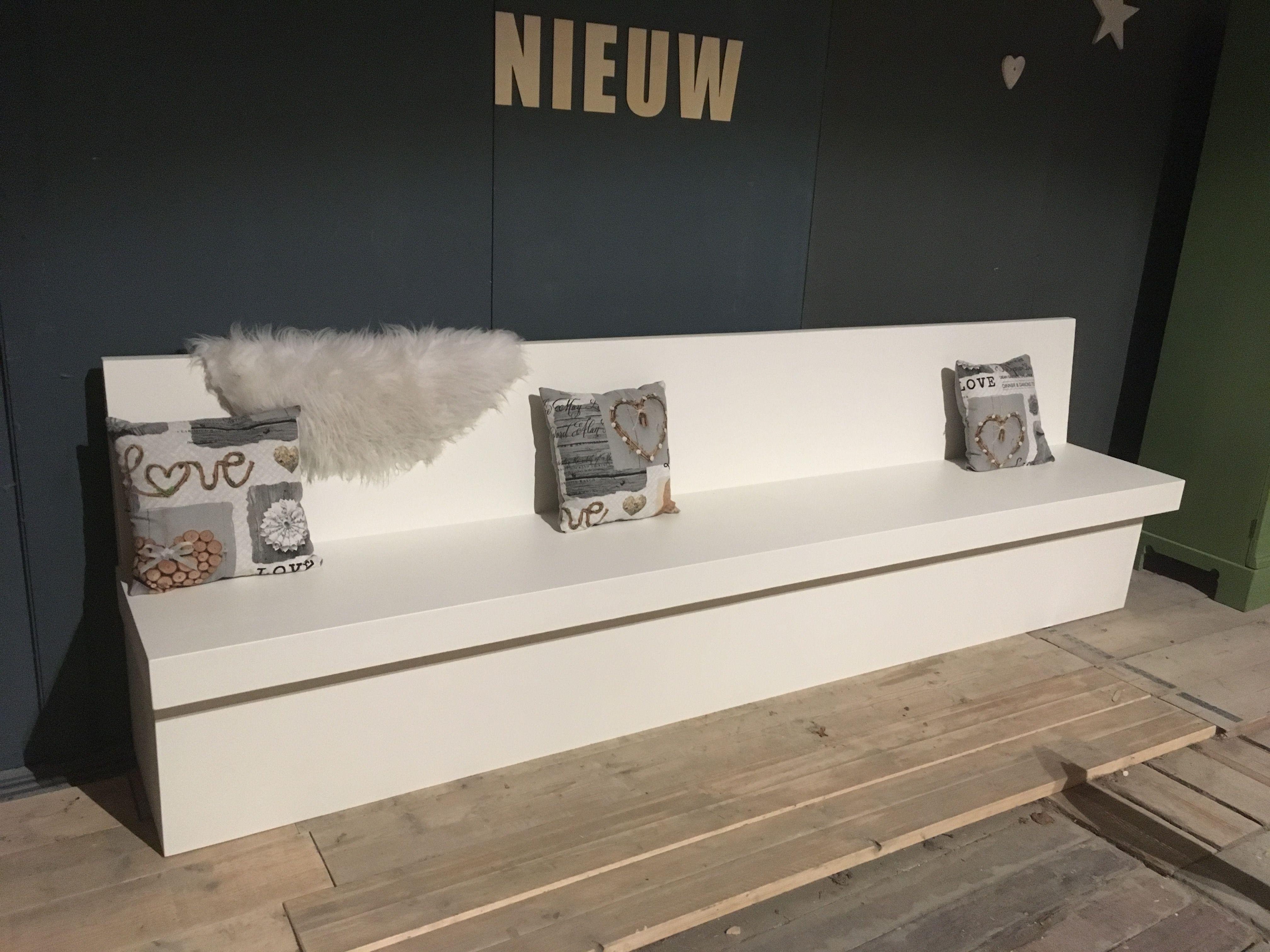 Strakke eetkamerbank op maat gemaakt door Oud is Nieuw Www