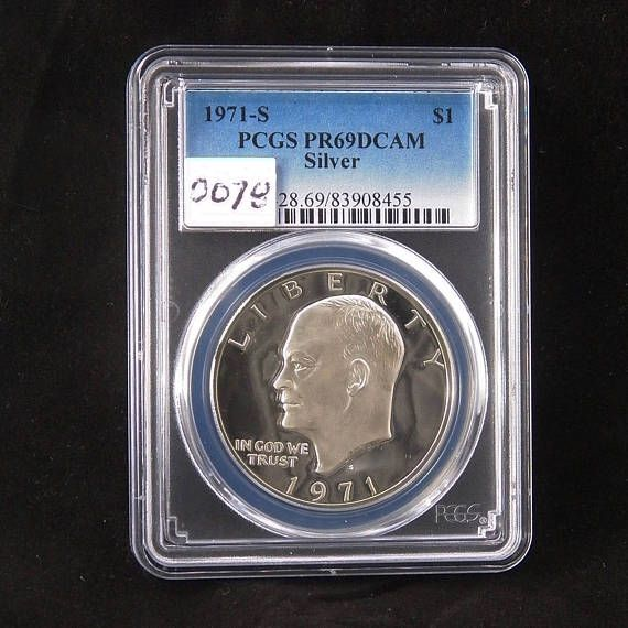 1973-S Clad Eisenhower Ike Dollar PR69DCAM PCGS Proof 69 Deep Cameo