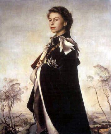 First portrait by Pietro Angonini of Queen Elizabeth II