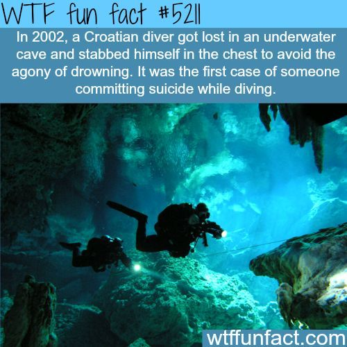 Croatian diver gets lost in a underwater cave - his solution against drowning... ~WTF! - weird & not-a-fun fact!
