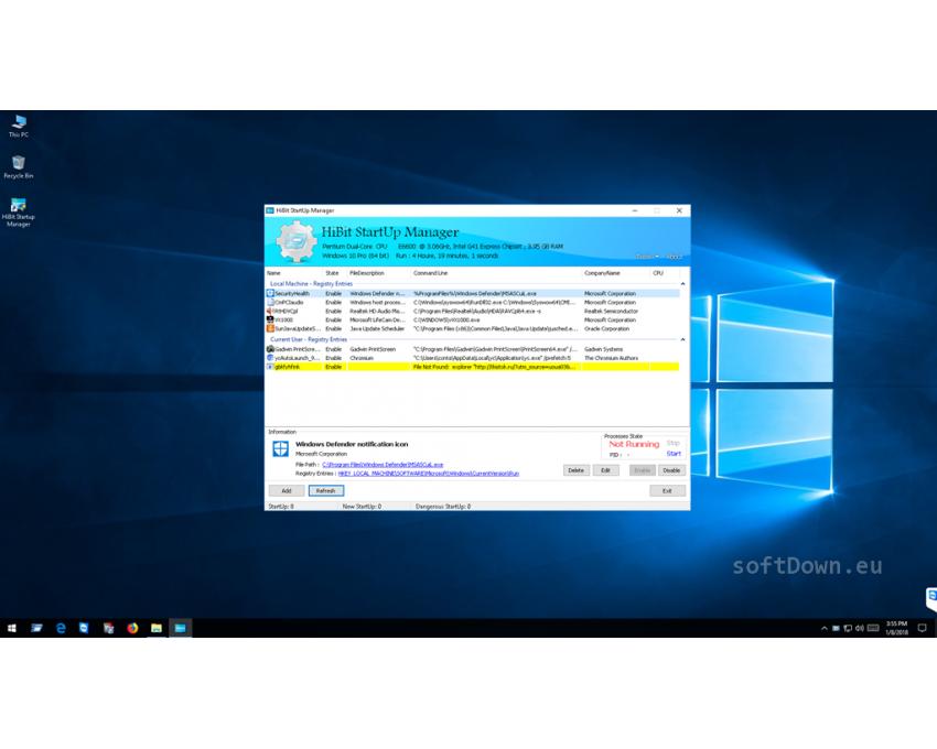 HiBit Startup Manager, Free Download - softDown eu   WINDOWS