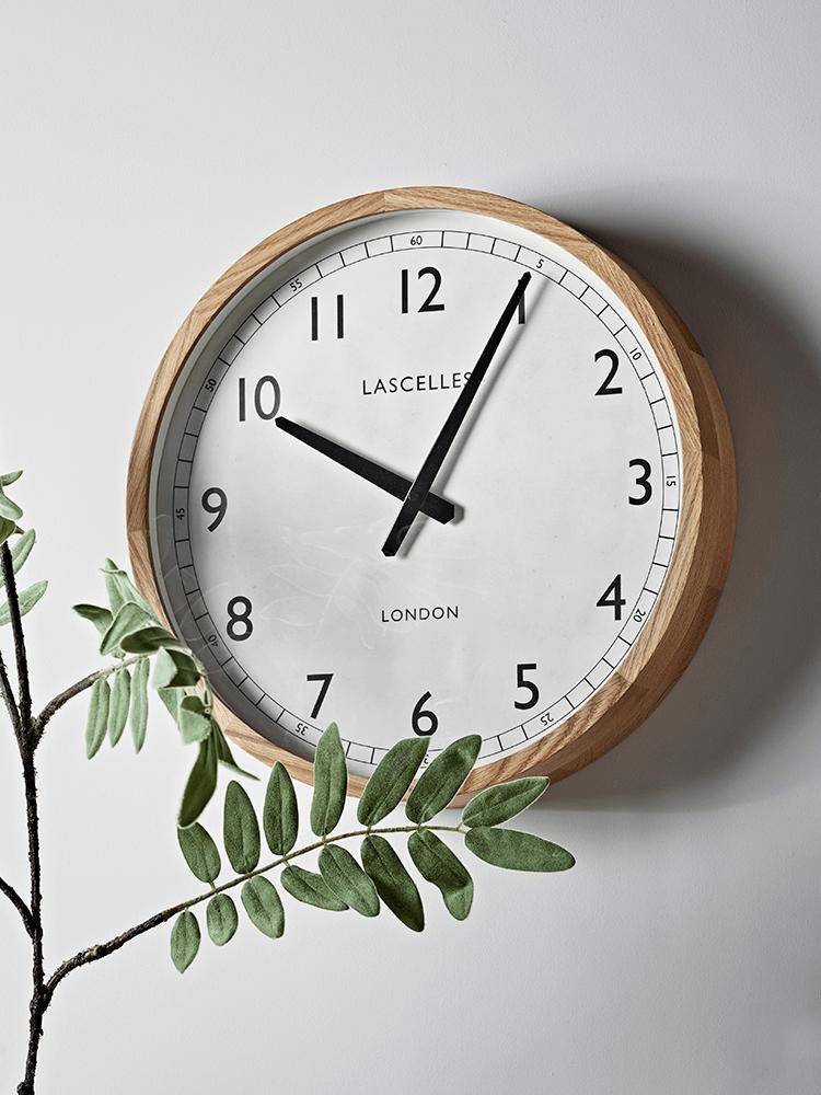 Oak Frame Clock In 2020 Large Kitchen Clock Scandinavian Clocks Kitchen Wall Clocks