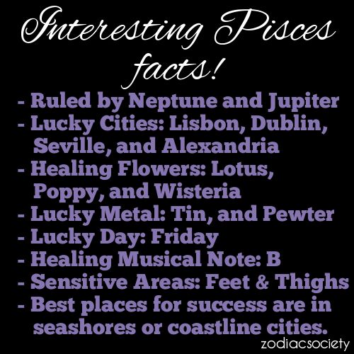 Interesting Pisces Facts!