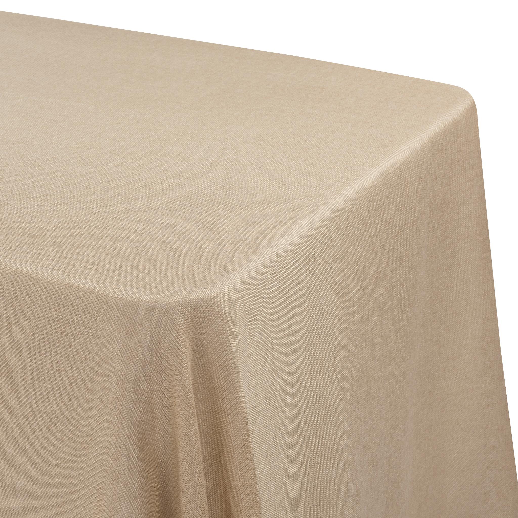 Faux Burlap Tablecloth 90 X156 Rectangular Blush Rose Gold