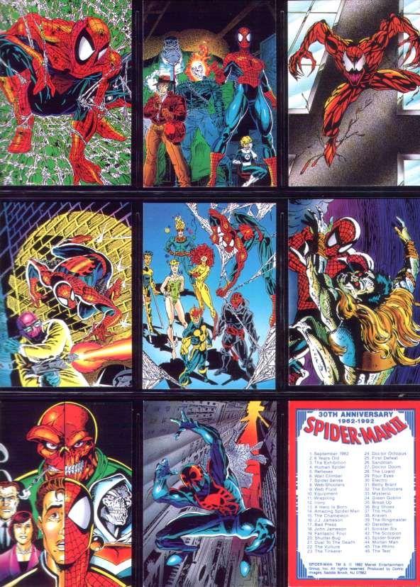 30th anniversary spider man cards