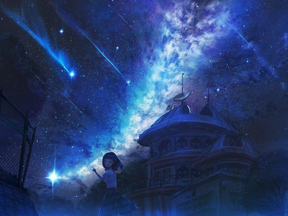 Pin By Jinmou Park On Anime Scenery Anime Places Sky Anime Anime Scenery Background anime wallpaper galaxy