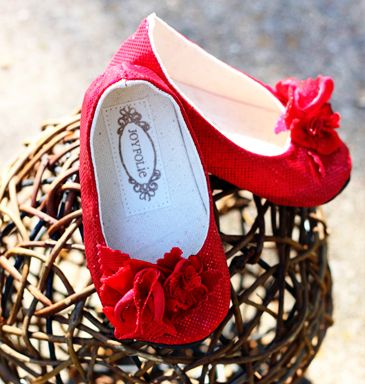 Ruby Red Slippers- I can imagine these with a cute little pair of jeans or with her Christmas dress. LOVE.