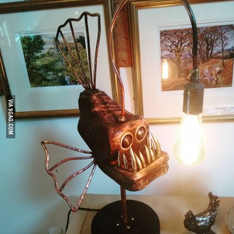 A Cool Angler Fish Lamp Made In Worcestershire UK Angler Fish - Anglerfish chair with a big lamp