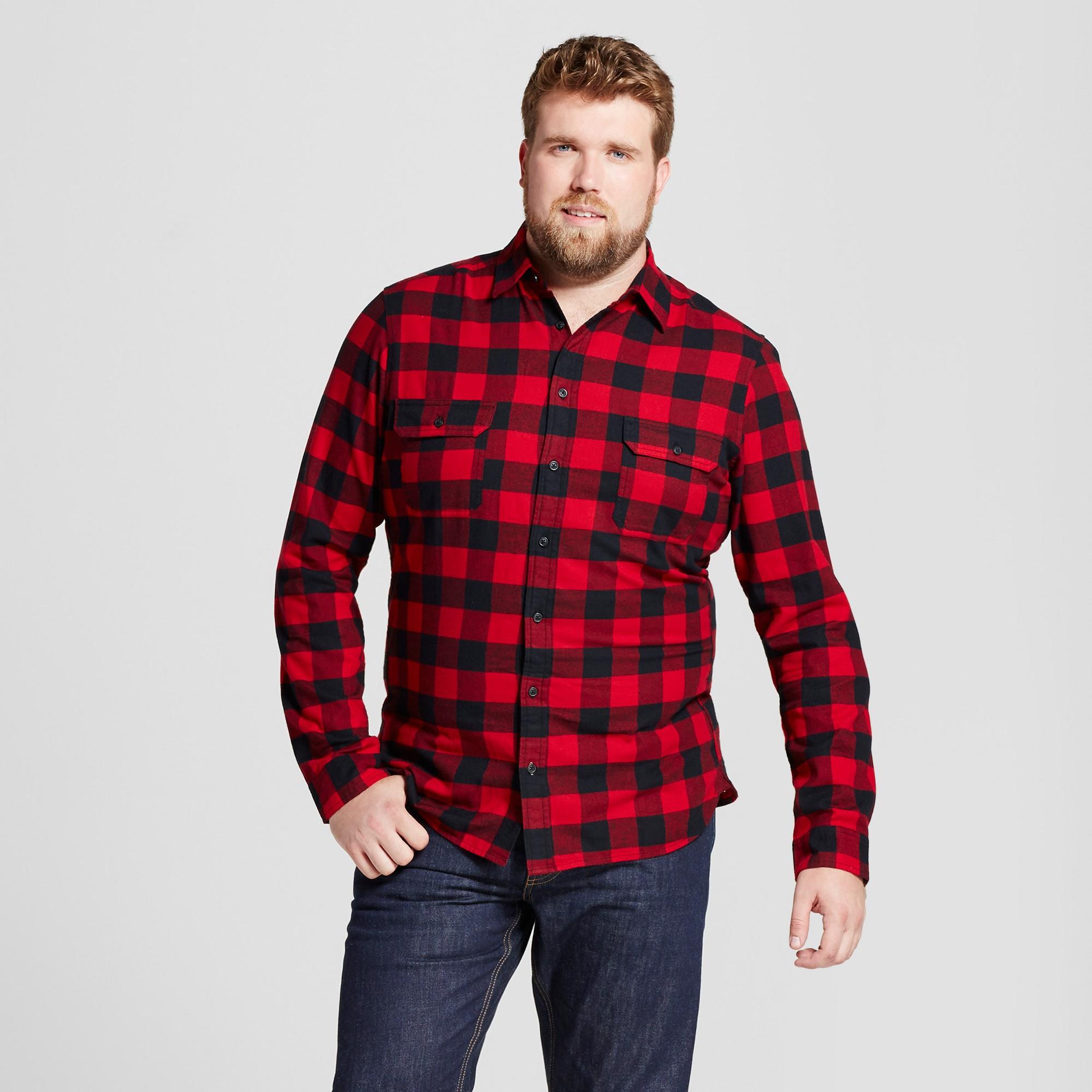 Flannel shirt men outfit  Menus Big u Tall Standard Fit Plaid Flannel Shirt  Goodfellow u Co