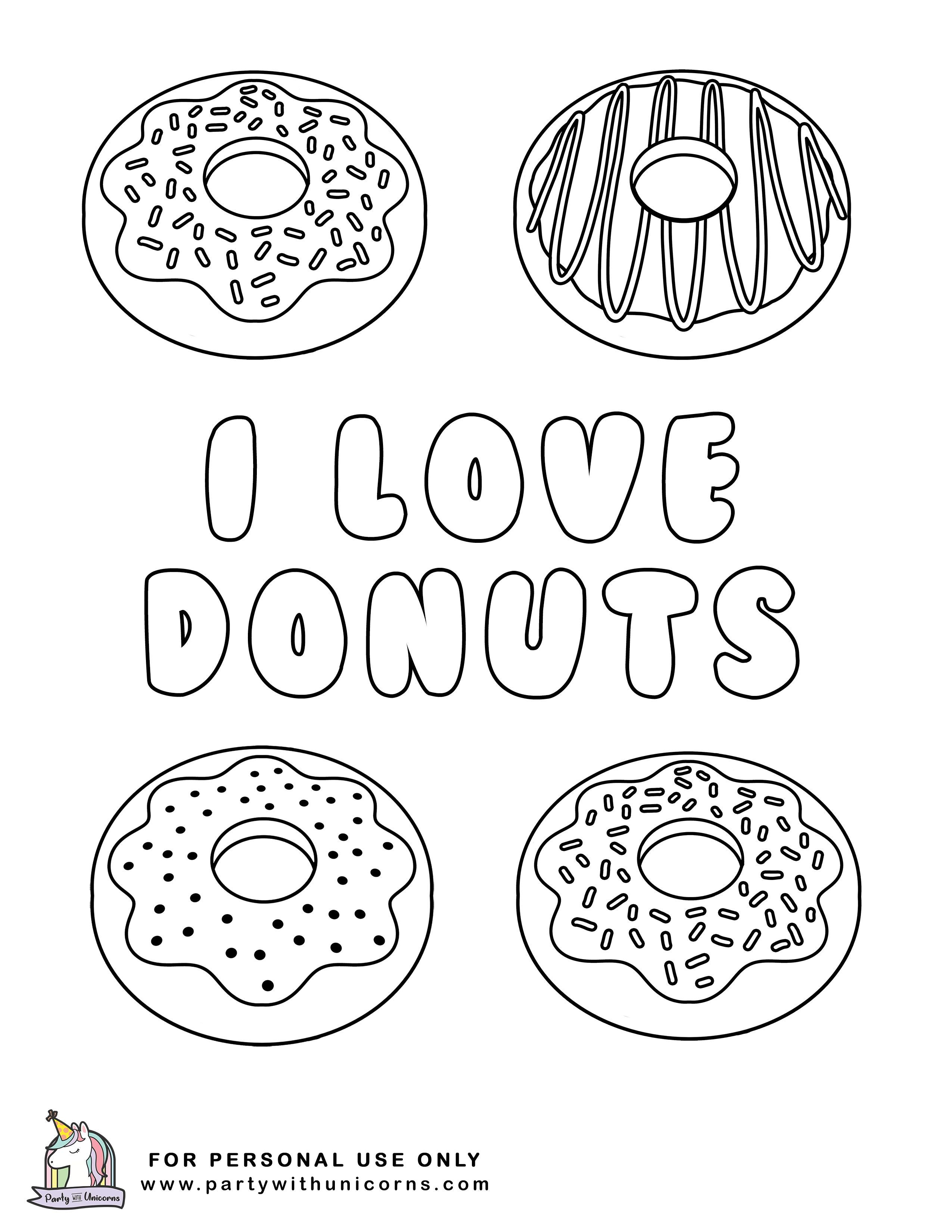 10 Donut Coloring Pages Free Download In 2020 Donut Coloring Page Free Kids Coloring Pages Coloring Pages