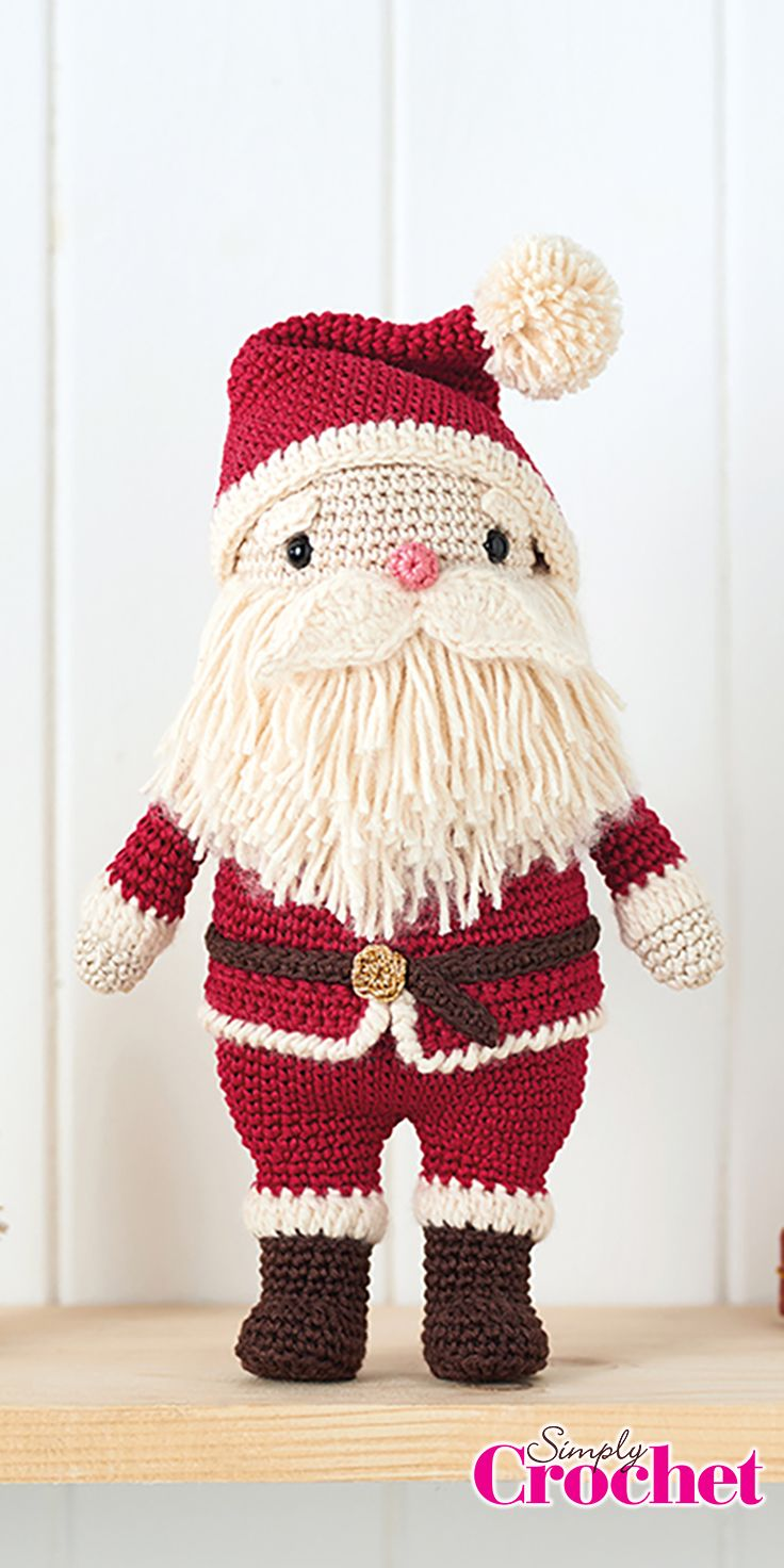 Amigurumi Santa by Ilaria Caliri from issue 64 of Simply Crochet | A ...